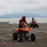 Riding ATVs on the beach