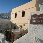 Santorini Mansion from the footpath