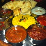 Meat Thali at Little India Bournemouth UK.