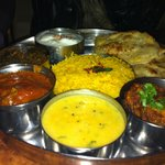 Vegeterian Thali at Little India Bournemouth UK.