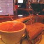 805 Wine Bar - Tomato Soup & BLAT Panini (yum!)