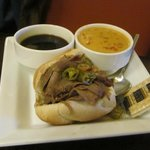 Italian Beef 1/2 sandwich and soup