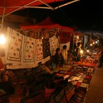 Beautfiul handcrafted textiles at the night market
