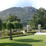 Monte Cassino Abbey overlooking Commonwealth War Cemetery
