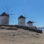 the windmills of mykonos town