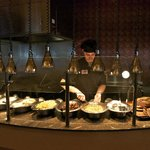 Serving line at Traditions Buffet