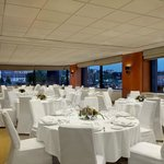 Haga banquet room in dinner setup