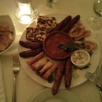 Hot Meze, very nice: perhaps could do with more Tzatziki or similar...