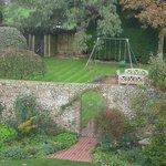 Corner of large back garden