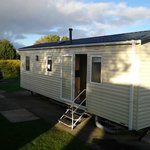 Well kept caravan at Craig Tara, Ayr