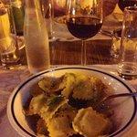 A nice ravioli plate.