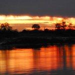 a `kaleidoscope of amazing colours` - a typical Zambezi sunset