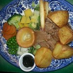 traditional sunday roast...delicious and still only £7.50