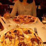 Pizzas melanzane con berenjena caramelizada