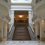 Grand staircase in from the lobby