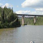 Rail bridge over the Little Pic river