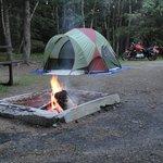 Campsite at night.