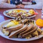 Mushroom omelette breakfast
