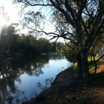 Stunning water views on Murray River walk at back of Motel