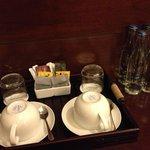 Tea, coffee, water