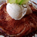 For dessert: Apple crisp with cinnamon ice cream