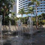 Fountains to entertain the children