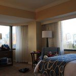 Panoramic windows in the room