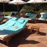 sun beds left all day, from 6am till 3pm