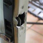 Broken door latch