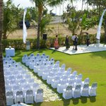 Ceremony area out the front of Villa Kalima