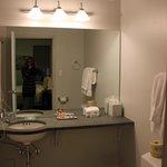 Roomy, SPOTLESS bathroom