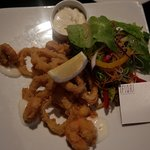Grilled Prawns and Calamari that came out deep fried