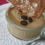 Luscious coffee mousse