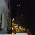 vista de la Gran Via desde el balcon