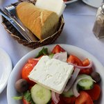 Our yummy salad and bread