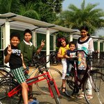 Children went crazy cycling around.