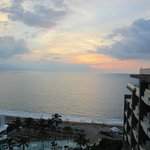 Breathtaking sunset views from our room