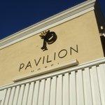 Pavilion Signage above hotel lobby