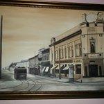 Картина в холле гостиницы, реставрация дореволюционного вида