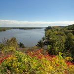 View of the river as seen from Dubuque's gravesite