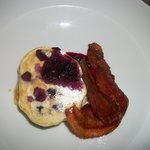 Fabulous Bacon and Blueberry Pancakes