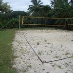 The volleyball court at Vaimaanga studio