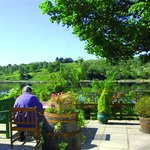Stunning views over Loch Awe from the Patio