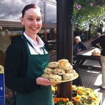 Enjoy a snack outside on the Patio overlooking Loch Awe