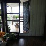 Room 9 - Door to balcony and shower room