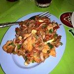 Crispy pork salad. 50 baht!