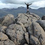 Our guide, Ange, on top of Mt Oakleigh