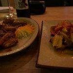 エビのお料理と鴨のお料理
