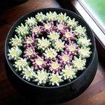 decoración: flores de loto
