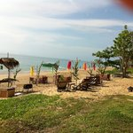 View of hotel beach